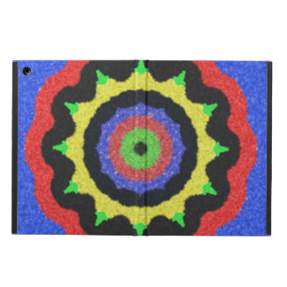 Colorful kaleidoscope pattern iPad air cover