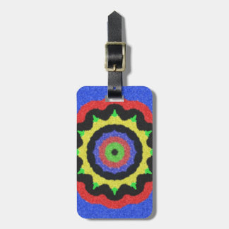 Colorful kaleidoscope pattern luggage tag