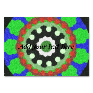 Colorful kaleidoscope pattern table card
