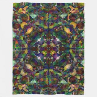 Colorful, Kaleidoscopic Abstract Art Fleece Blanket