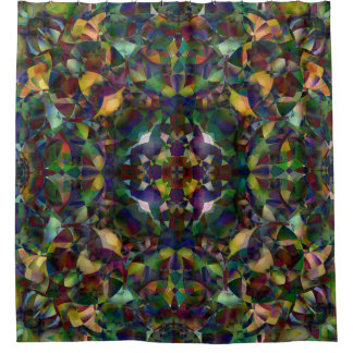 Colorful, Kaleidoscopic Abstract Art Shower Curtain