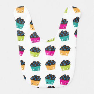 Colorful Kawaii Muffins Baby Bib