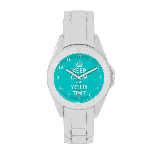 Colorful Keep Calm watches | Customized colors