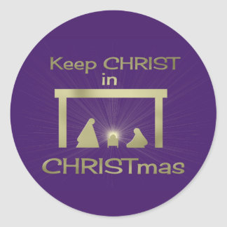Colorful Keep Christ In Christmas Stickers