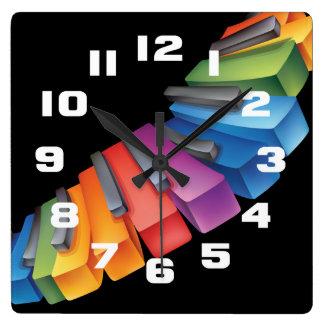 Colorful Keyboard Cool Music Clock