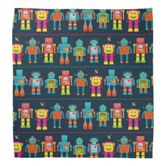 Colorful Kids Robot Bandana