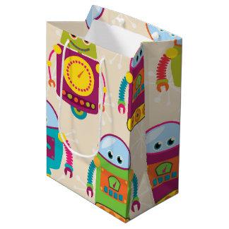 Colorful Kids Robot Medium Gift Bag