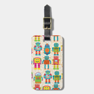 Colorful Kids Robot Tags For Luggage