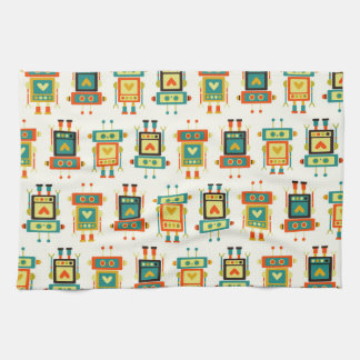 Colorful Kids Robot Tea Towel