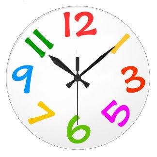 Colorful Kids Room Wall Clock