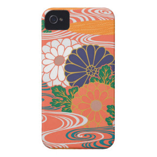 Colorful Kimono Pattern iPhone 4\4s Case iPhone 4 Case-Mate Cases