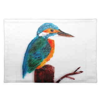 Colorful KIngfisher Bird Art Placemat