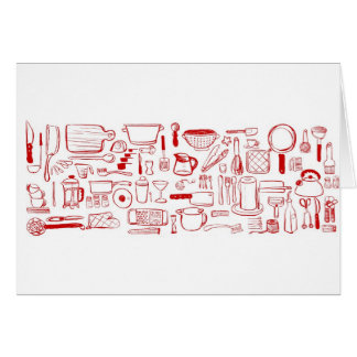 Colorful Kitchen Pattern Card