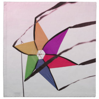 colorful kites flying in the sky napkin