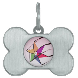 colorful kites flying in the sky pet tag