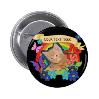 Colorful Kitten and Scroll Button