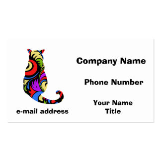 Colorful Kitty 1 Pack Of Standard Business Cards