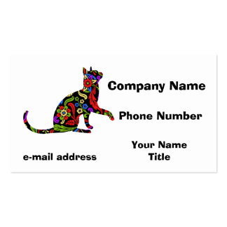 Colorful Kitty 2 Pack Of Standard Business Cards