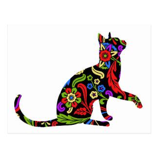 Colorful Kitty 2 Postcard