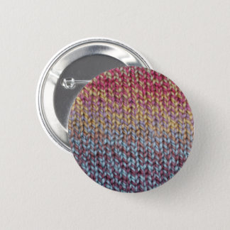 Colorful Knit 6 Cm Round Badge