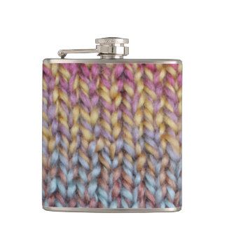 Colorful Knit Hip Flask