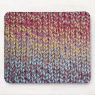 Colorful Knit Mouse Mat