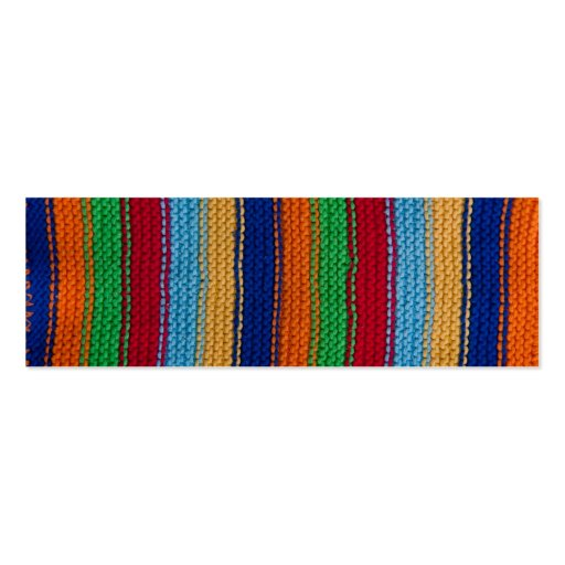 Colorful knitted stripes business cards