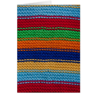 Colorful knitted stripes card