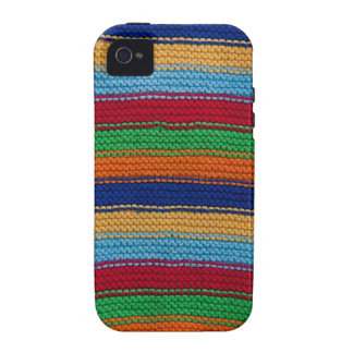 Colorful knitted stripes iPhone 4 case