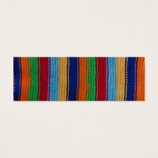 Colorful knitted stripes mini business card