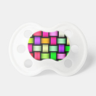 Colorful knitted texture baby pacifier
