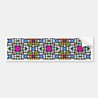 Colorful knitted texture bumper sticker