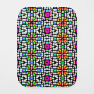 Colorful knitted texture burp cloths