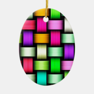 Colorful knitted texture christmas ornament