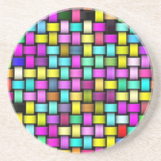 Colorful knitted texture coasters