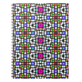 Colorful knitted texture note book