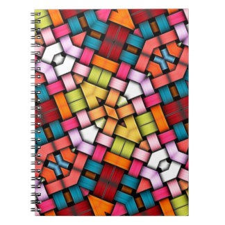 Colorful knitted texture note books