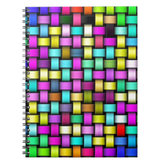 Colorful knitted texture notebook