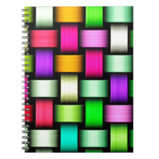 Colorful knitted texture notebooks