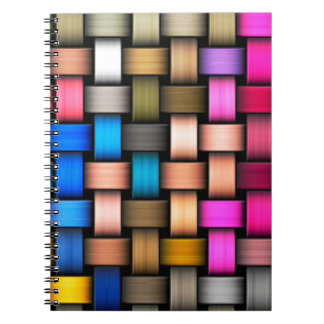 Colorful knitted texture spiral notebook