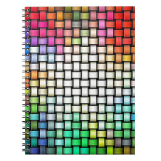 Colorful knitted texture spiral notebooks