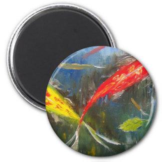 Colorful Koi Fish Magnet