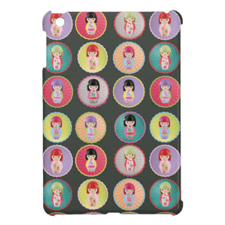 Colorful Kokeshi Dolls iPad Mini Cover