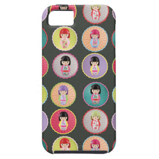 Colorful Kokeshi Dolls iPhone 5 Covers