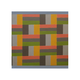 colorful ladder wood print