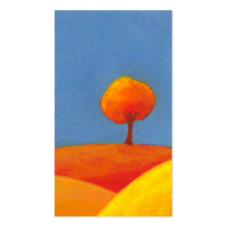 Colorful landscape art sunny day Fresh Air Business Cards