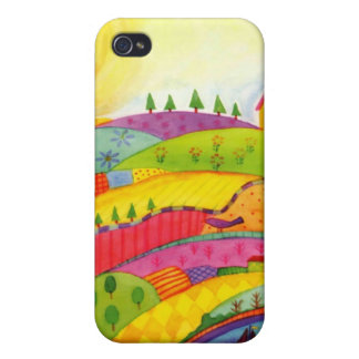 colorful landscape cover for iPhone 4