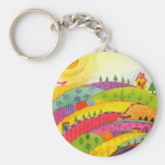 colorful landscape key chains