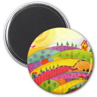 colorful landscape magnets