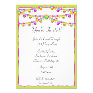 Colorful Lanterns Custom Invite